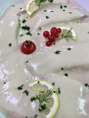 Pavé de Saumon braisé au miel et vinaigre (part)