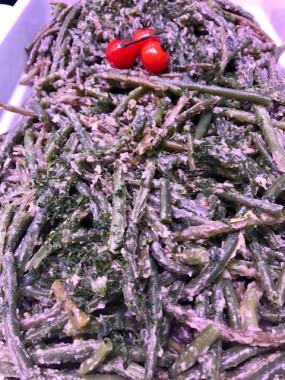 Haricots verts aux champignons frais sautés (part)