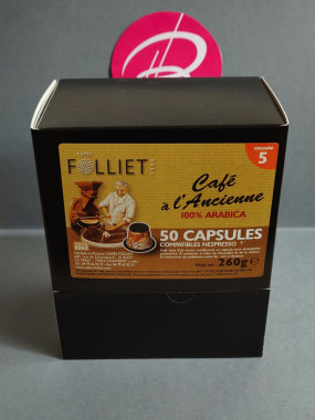Café Folliet à l'ancienne 100 % ARABICA