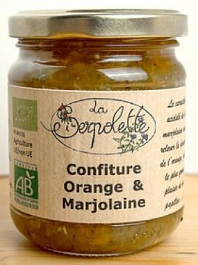 Confiture Orange et Marjolaine  AB